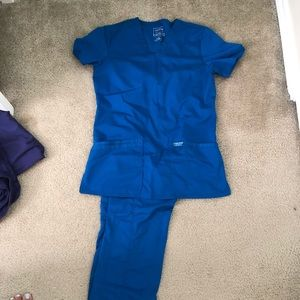 Royal Blue set of scrubs!